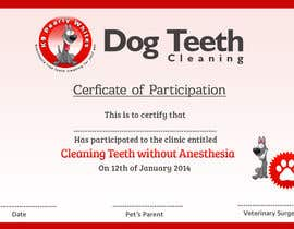 #56 for Design A Dog Teeth Cleaning Certificate by MonsterGraphics
