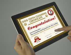 #68 for Design A Dog Teeth Cleaning Certificate by RERTHUSI