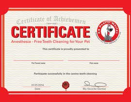 #60 for Design A Dog Teeth Cleaning Certificate by davidlondon