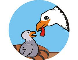#25 for Illustrating 3 pictures of an eagle baby by dancow