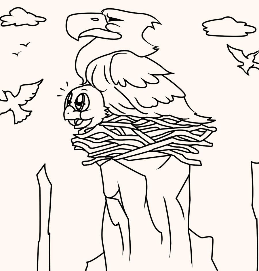 #27 for Illustrating 3 pictures of an eagle baby by v9s2