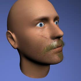 #26 for Create realistic 3D beard for interactive viewing by handras88