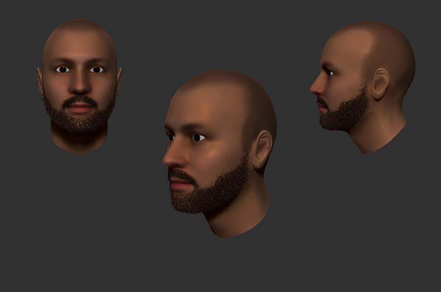 #6 for Create realistic 3D beard for interactive viewing by DedaDjoka