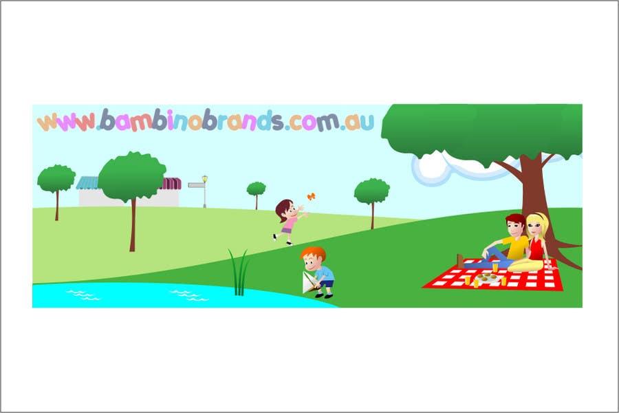 Bài tham dự cuộc thi #                                        36                                      cho                                         Illustration Design for Bambino Brands Facebook Timeline