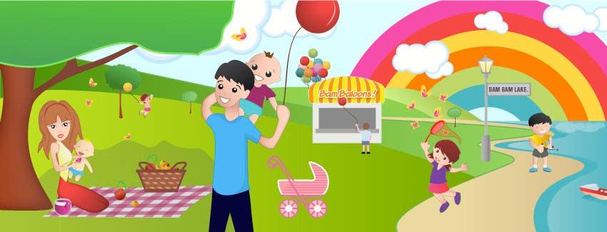 Inscrição nº                                         22                                      do Concurso para                                         Illustration Design for Bambino Brands Facebook Timeline