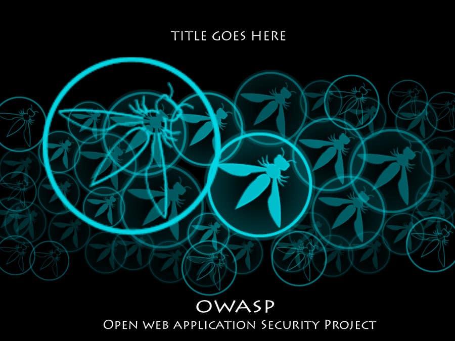 New presentation template for the OWASP Foundation için 4 numaralı Yarışma Girdisi