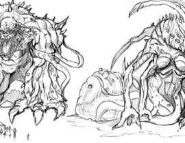 #18 untuk QUICK Sketch of 2 Fantasy Monsters. Just Sketch. Quick Easy and Fun oleh DragonFlamely