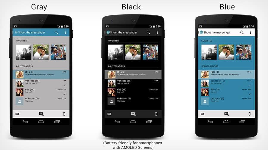 Inscrição nº                                         16                                      do Concurso para                                         Design an App Mockup for Android application