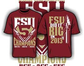 #7 for Design a T-Shirt for FSU BCS Champs by iYNKBRANE