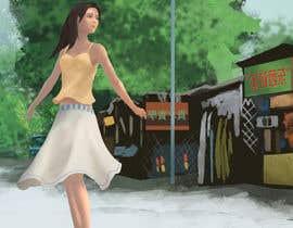 Nro 8 kilpailuun Draw a girl walking down the street käyttäjältä kobaart