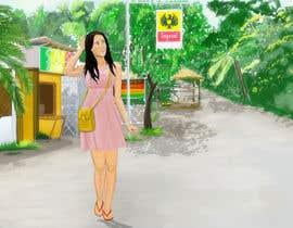 Nro 7 kilpailuun Draw a girl walking down the street käyttäjältä rohitgururani4