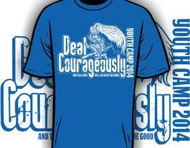 "#34 untuk Design a T-Shirt with the slogan ""Deal Courageously"" oleh iYNKBRANE"