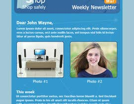 #6 para Photoshop Design for a dummy newsletter por giannoulasv