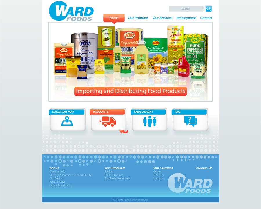 Inscrição nº 2 do Concurso para Design a Website Mockup for a Wholesale food distributor