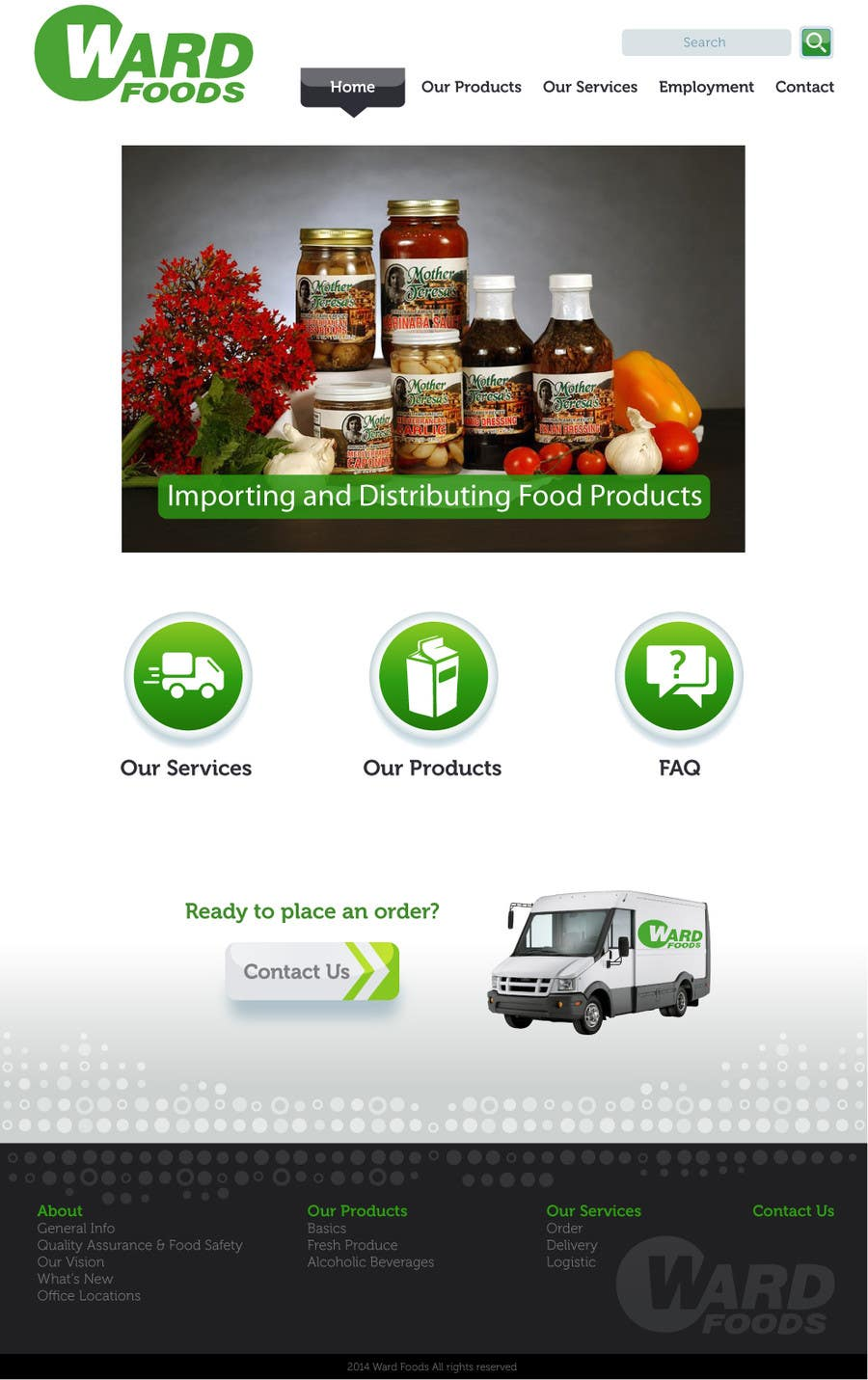 Contest Entry #18 for Design a Website Mockup for a Wholesale food distributor