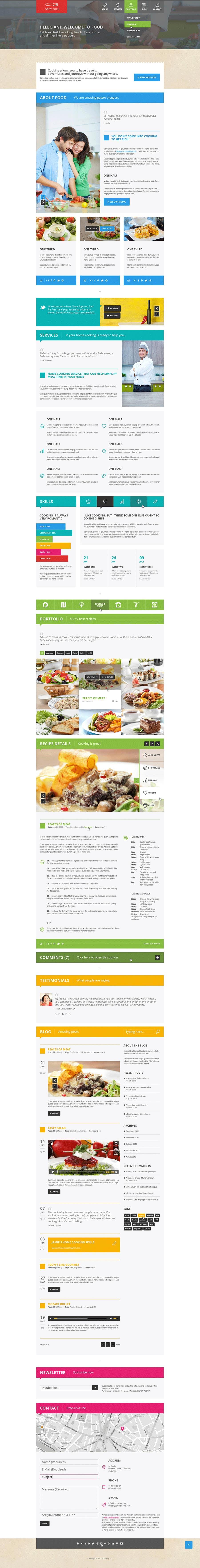 Kilpailutyö #16 kilpailussa Design a Website Mockup for a Wholesale food distributor