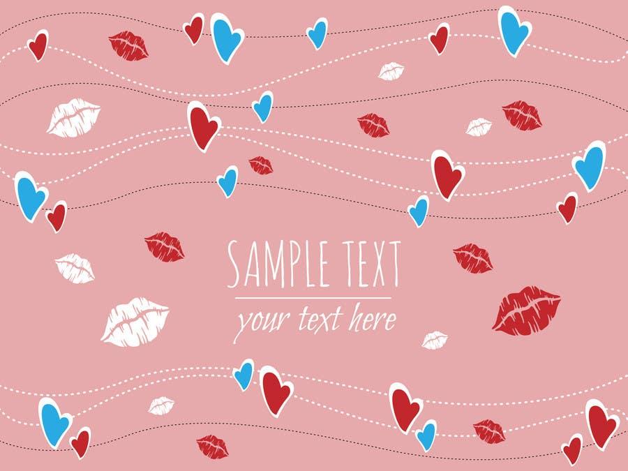 Bài tham dự cuộc thi #7 cho Illustrate background for Valentine