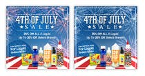 Graphic Design Kilpailutyö #6 kilpailuun Email Marketing Banner For July 4th (US Holiday)