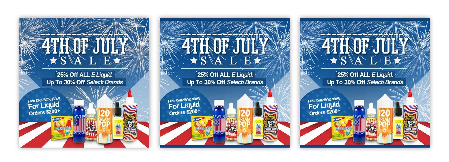Kilpailutyö #8 kilpailussa Email Marketing Banner For July 4th (US Holiday)