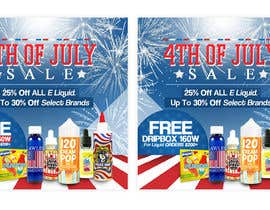 #22 for Email Marketing Banner For July 4th (US Holiday) by ClaudiuTrusca