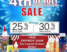 satishvik2020 tarafından Email Marketing Banner For July 4th (US Holiday) için no 26