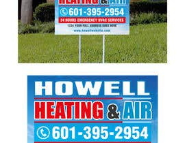gidzibarra tarafından Corel draw Design -  Yard Sign for HVAC company için no 8