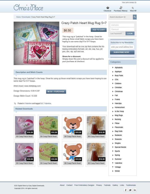 Kilpailutyö #13 kilpailussa Design a Website Mockup for Oma's Place.com