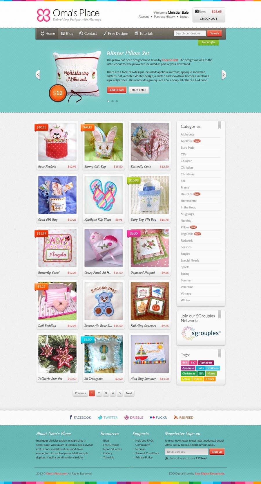 Kilpailutyö #19 kilpailussa Design a Website Mockup for Oma's Place.com