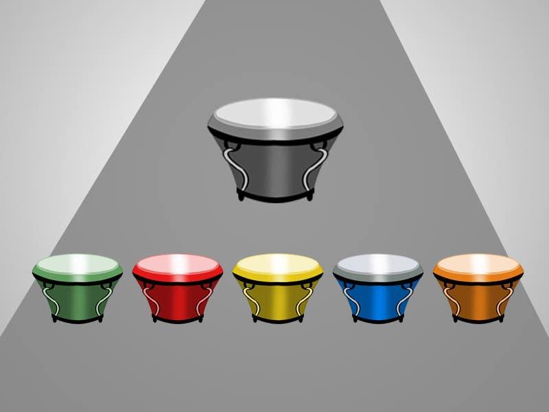 Bài tham dự cuộc thi #32 cho Draw the bongô / Conga contest! - repost