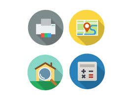 #12 para Design a set of Icons for a Real Estate company por NicolasFragnito