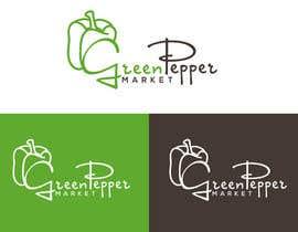 BBdesignstudio tarafından Design Green Pepper Market Logo için no 97