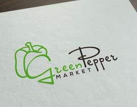 #98 for Design Green Pepper Market Logo by BBdesignstudio