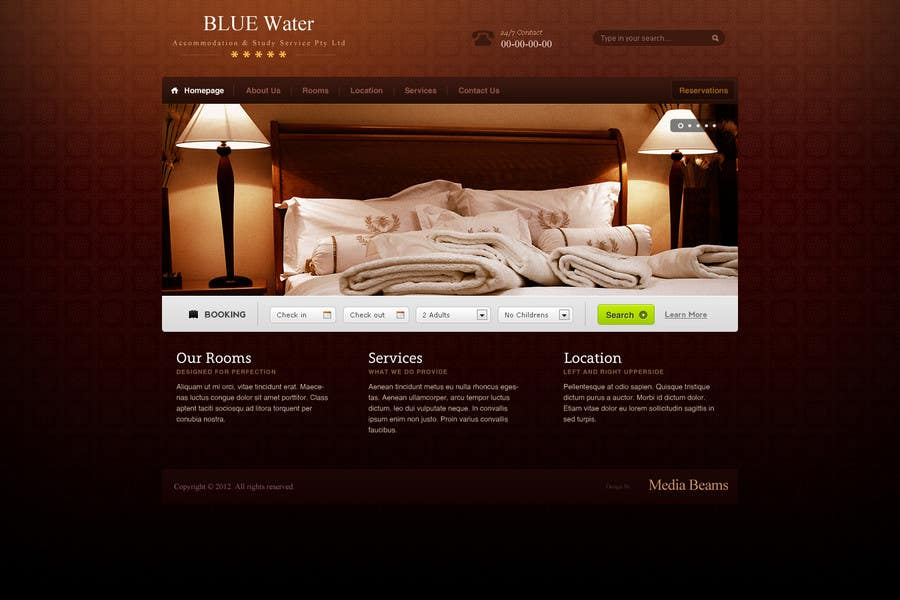 Contest Entry #                                        22                                      for                                         Website Design for Hotels and Resorts