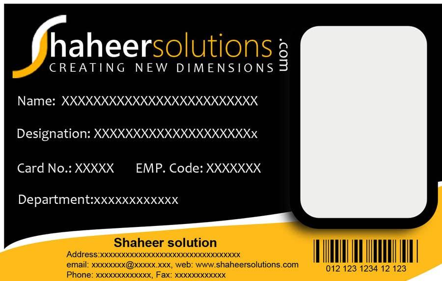 Kilpailutyö #9 kilpailussa Employee Identity card design.