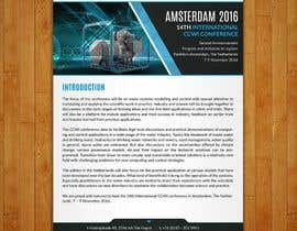 Nro 5 kilpailuun Design a conference brochure / flyer / folder käyttäjältä sdinfoways