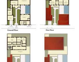 Nro 13 kilpailuun Design Concept for a two-storey House in Saudi Arabia (Floor plan, Elevations, 3D rendering) käyttäjältä GiuliaLampis
