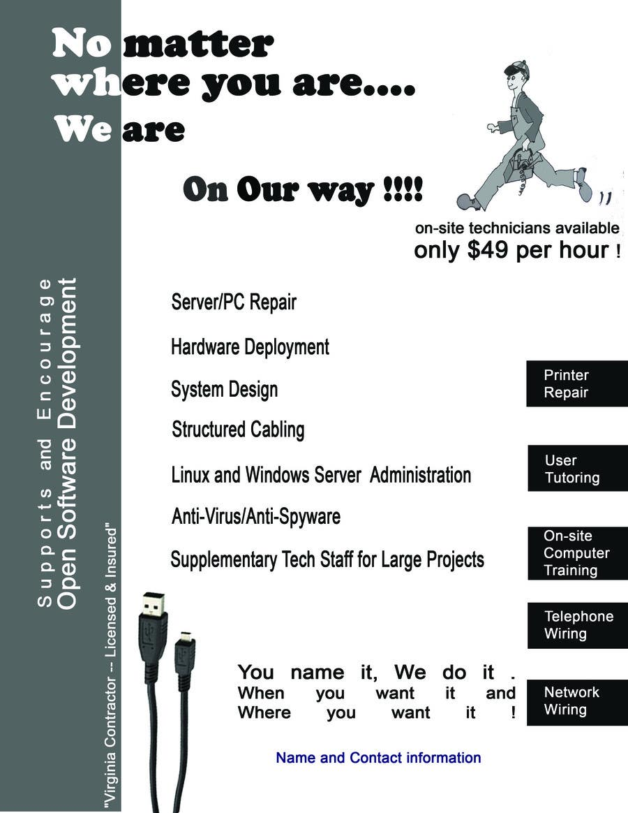 Contest Entry #                                        4                                      for                                         Flyer Design for Tech Services Division