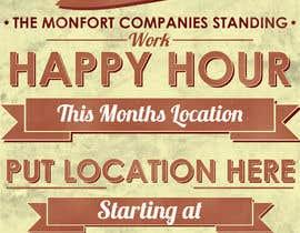 Squirreldesignss tarafından Design a Happy Hour Flyer için no 6
