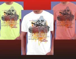 #20 untuk Design a cool T-Shirt with Tank Men and a slogan underneath oleh artist4