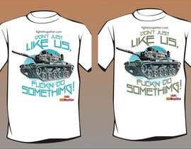 #23 untuk Design a cool T-Shirt with Tank Men and a slogan underneath oleh artist4