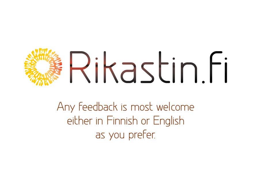 Inscrição nº                                         10                                      do Concurso para                                         Logo Design for Rikastin.fi