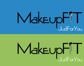 #436 for Logo Design for  Makeup Fit af ZenbayMono