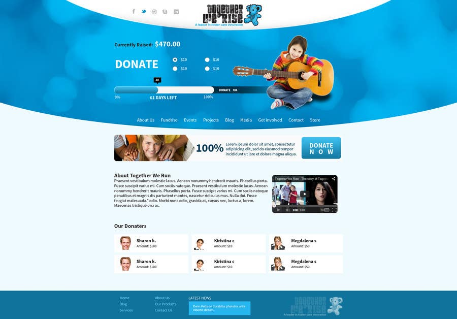 Entry By Tania For Design A Website Template For Fundraising - Photo contest website template