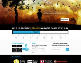 nº 15 pour Design a Website template for fundraising page par suryabeniwal