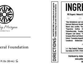Nro 28 kilpailuun Create a Cosmetic Label for my Liquid Mineral Foundation käyttäjältä idrismkhalil
