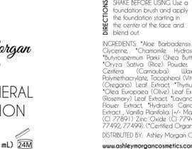 Nro 16 kilpailuun Create a Cosmetic Label for my Liquid Mineral Foundation käyttäjältä emorton