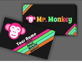 nº 5 pour Design Business Cards for Mr. Monkey par vallabhvinerkar