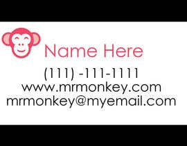 #25 para Design Business Cards for Mr. Monkey por erinborn
