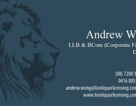 #9 for Design some Business Cards for Lion Liquor Licensing Consultants af dalizon