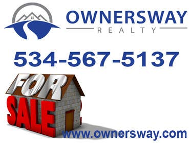 #10 for Ownersway real estate yard sign by kabirkidwai